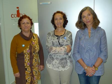 Celsa Andrés, Sagrario Martín y Rosa Mª Hernández Serra.