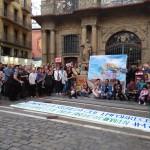 Concentración en la Plaza del Ayuntamiento de Pamplona