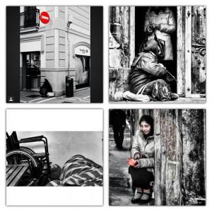 Varias de las fotografías sobre exclusión en la Comunidad Foral que hemos recibido.