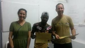 Yolanda Rodríguez y Javier Cañada entregaron los certificados a los participantes