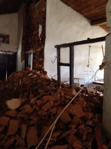 Así quedó la Sala de Rayos X del hospital de Ramechhap.