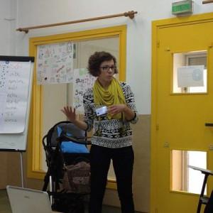 Teresa explicó nuestro nuevo trabajo en el barrio de La Milagrosa