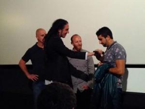 En la charla posterior durante el estreno en el Zinemaldi los directores llamaron a Maamun, quien pidió al público que no nos olvidemos de las personas que viven en ese campo
