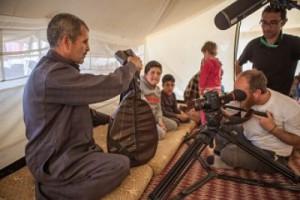 Pablo Tosco con la cámara durante el rodaje