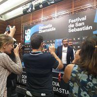 Eric Toledano en la rueda de prensa del Festival de Cine de San Sebastián