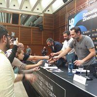 Los directores al finalizar la rueda de prensa del Zinemaldi 2017