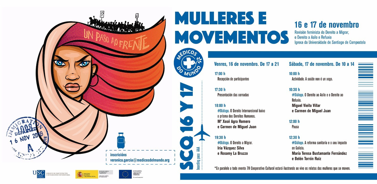 Programa de las jornadas Mulleres e Movementos_Santiago de Compostela 16 y 17 de noviembre