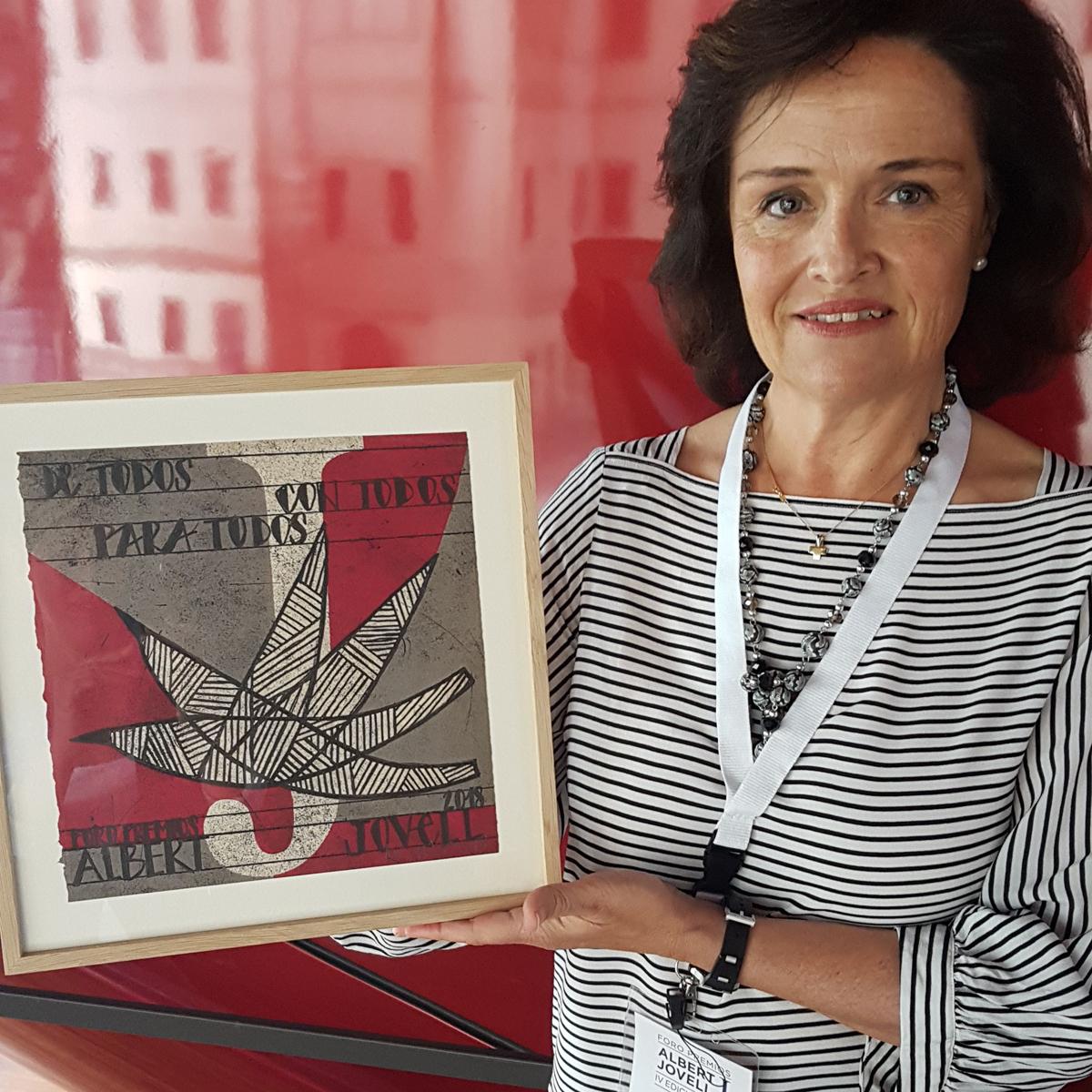 Pilar Martin, responsable de Grandes Donantes y Empresas  con el Premio